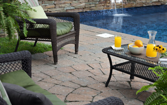 Custom Water Feature Patio