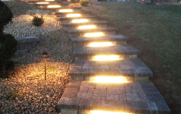 Walkway with Lighting