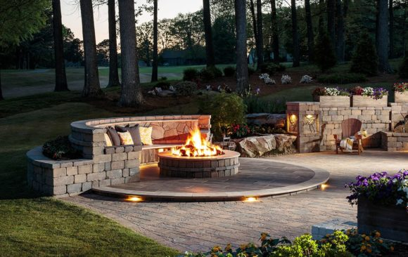 Firepit with Bench