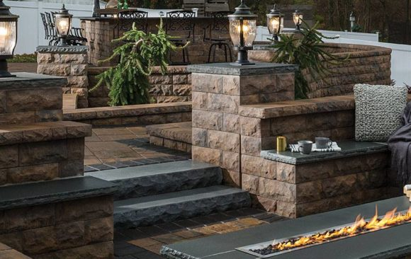 Multi Level Patio with Walls