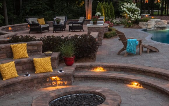 Multi-Level Patio with Firepit