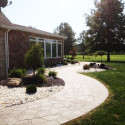 Landscaping along Custom Walkway