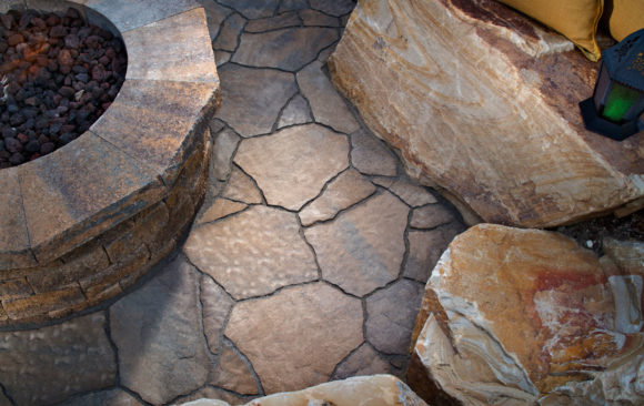 Mega Arbel Seating with Firepit