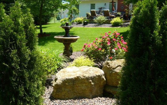 Planted Rock Garden