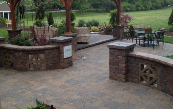 Stone Patio with Gazebo